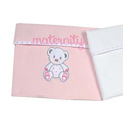 Κουβέρτα Baby Star Sweet Dots ροζ πικέ με ρέλι 75 x 100cm