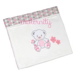 Κουβέρτα Baby Star Sweet Dots πικέ με φάσα 100 x 150cm