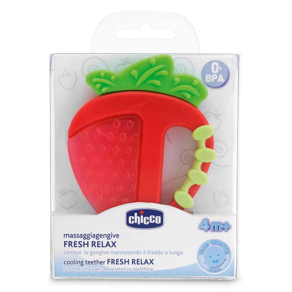 Chicco κρίκος οδοντοφυΐας 4M+ φράουλα