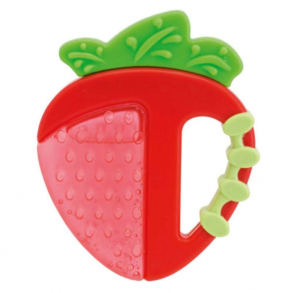 Chicco Fresh Relax Strawberry Teether 4M+