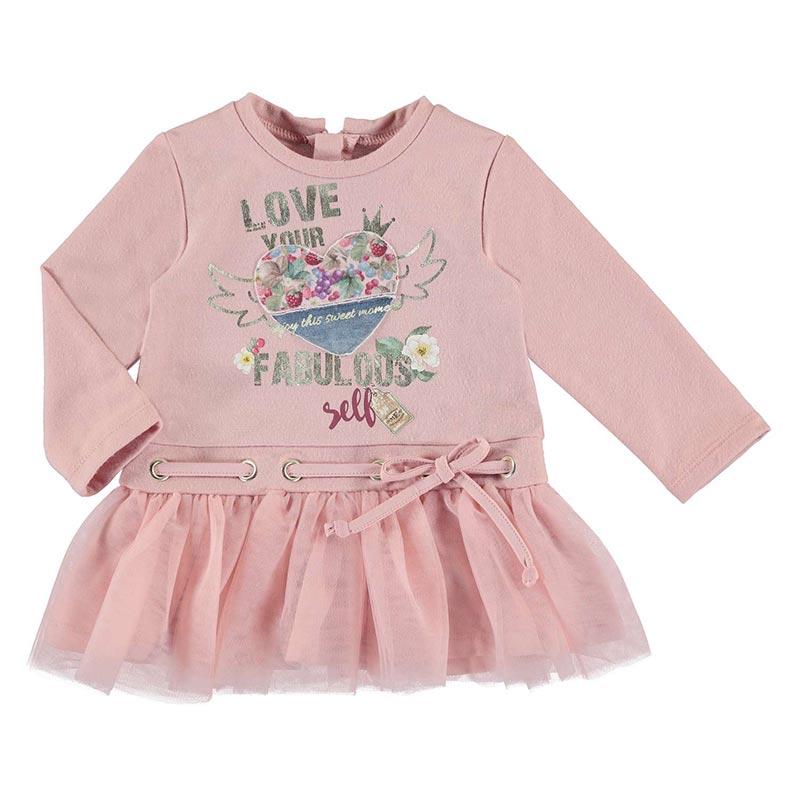 Φόρεμα φούτερ τούλι για κορίτσι Mayoral 02948-46 d3bf4d4c69a