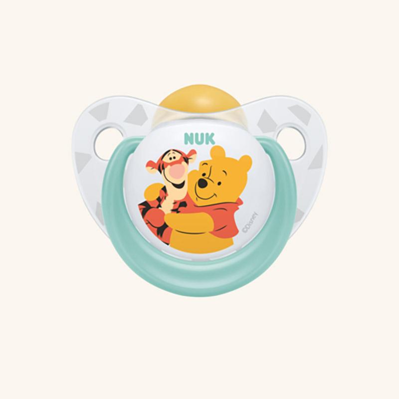 NUK πιπίλα Winnie the Pooh Latex 0-6m