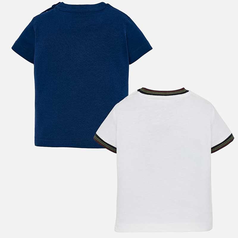 Σετ 2 μπλούζες κοντομάνικες στάμπα Mayoral 01028-15