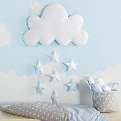 Διακοσμητικό mobile Σύννεφο σιέλ 7 αστέρια Baby Star