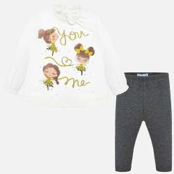 Σετ κολάν και μπλούζα baby κορίτσι Mayoral 02743-65