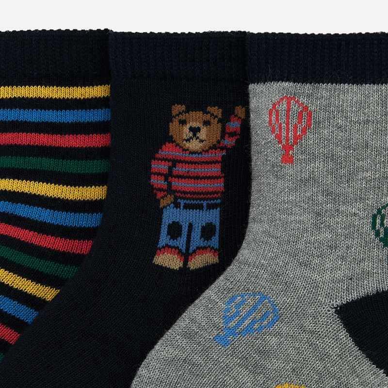 Σετ καλτσάκια αρκουδάκι baby αγόρι αρκούδος Mayoral 10635-21