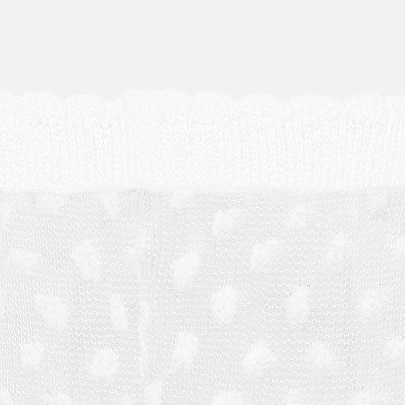 Καλτσάκι πλουμετί λευκό Mayoral 09247-58