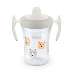 Nuk Trainer Cup ποτηράκι με Μαλακό Στόμιο και Χεράκια 6m+ 230ml