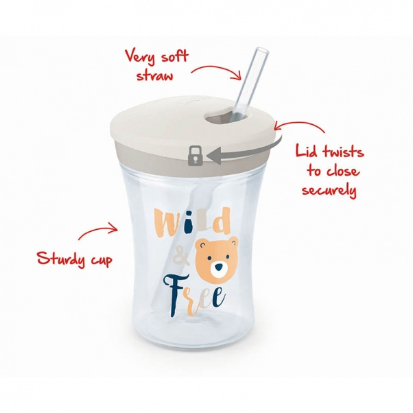 Nuk Action Cup 230ml with straw 12m+ (Bra Free)