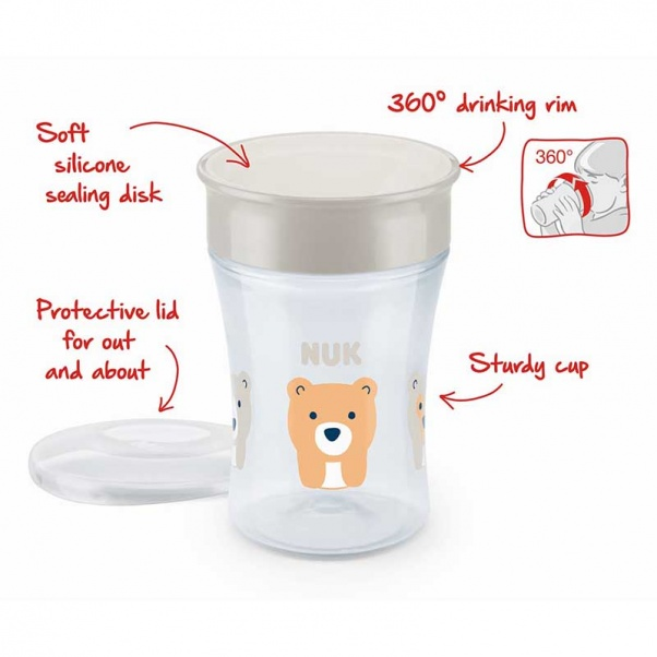 NUK Magic Cup 230ml with drinking rim 8m+