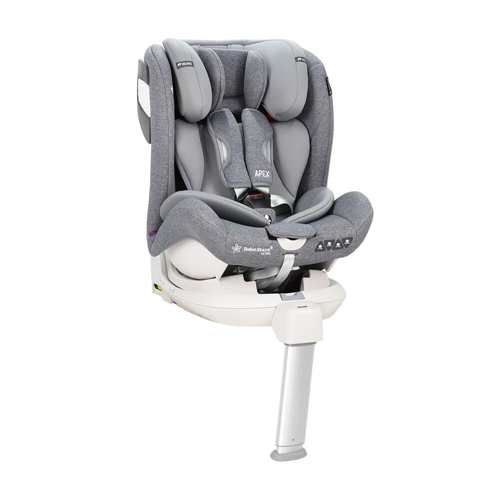 Κάθισμα Αυτοκινήτου Bebe Stars Apex 360° Isofix Grey 925-186