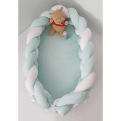 Baby Oliver φωλιά ύπνου με αποσπώμενη πλεξούδα μέντα 200x16cm