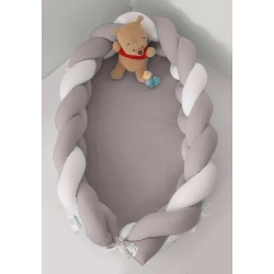 Baby Oliver φωλιά ύπνου με αποσπώμενη πλεξούδα μόκα 200x16cm