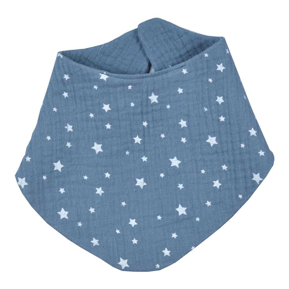 Σαλιάρα μπαντάνα βρεφική Baby Oliver Muslin μπλε