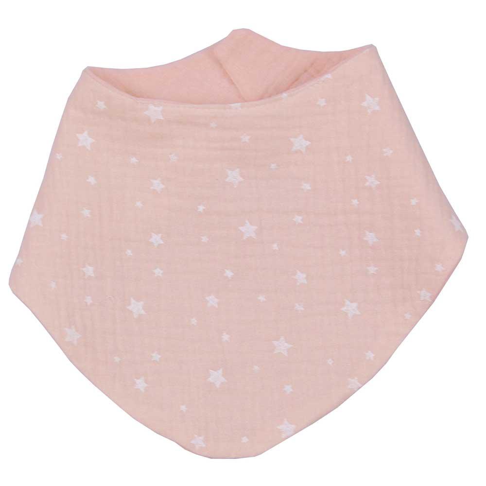 Σαλιάρα μπαντάνα βρεφική Baby Oliver Muslin ροζ