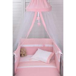 Σετ προίκας κούνιας 2τεμ. Πάπλωμα-Πάντα Baby Oliver Muslin ροζ