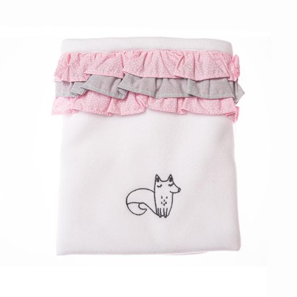 Κουβέρτα Fleece αγκαλιάς Baby Star Norma The Fox με βολάν