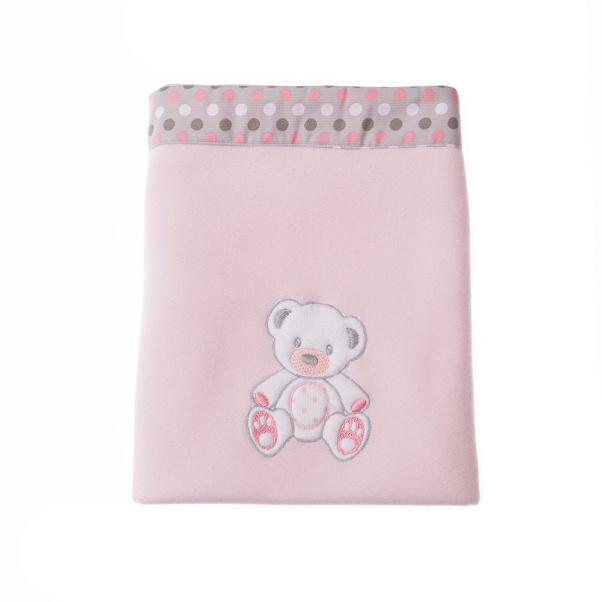 Κουβέρτα Fleece αγκαλιάς Baby Star Sweet Dots pink