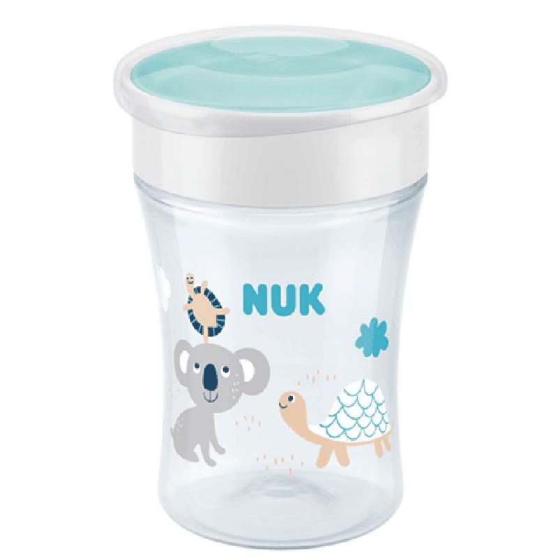 NUK ποτηράκι Magic Cup 230ml με χείλος και καπάκι 8m+