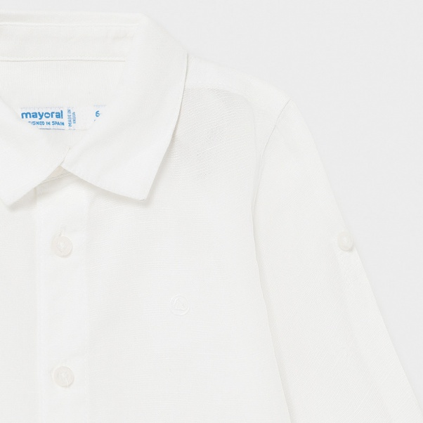 Παιδικό πουκάμισο μακρυμάνικο λινό Mayoral 00117-78