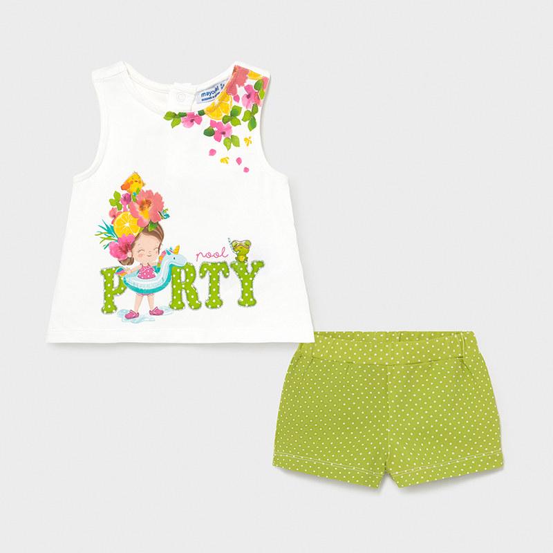 Σετ σορτς για κορίτσι πράσινο Mayoral 01231-96