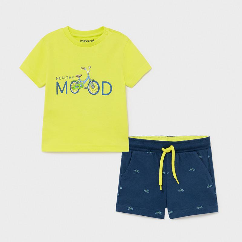 Σετ παιδικό μακό με βερμούδα Mood για αγόρι λάϊμ Mayoral 01673-57