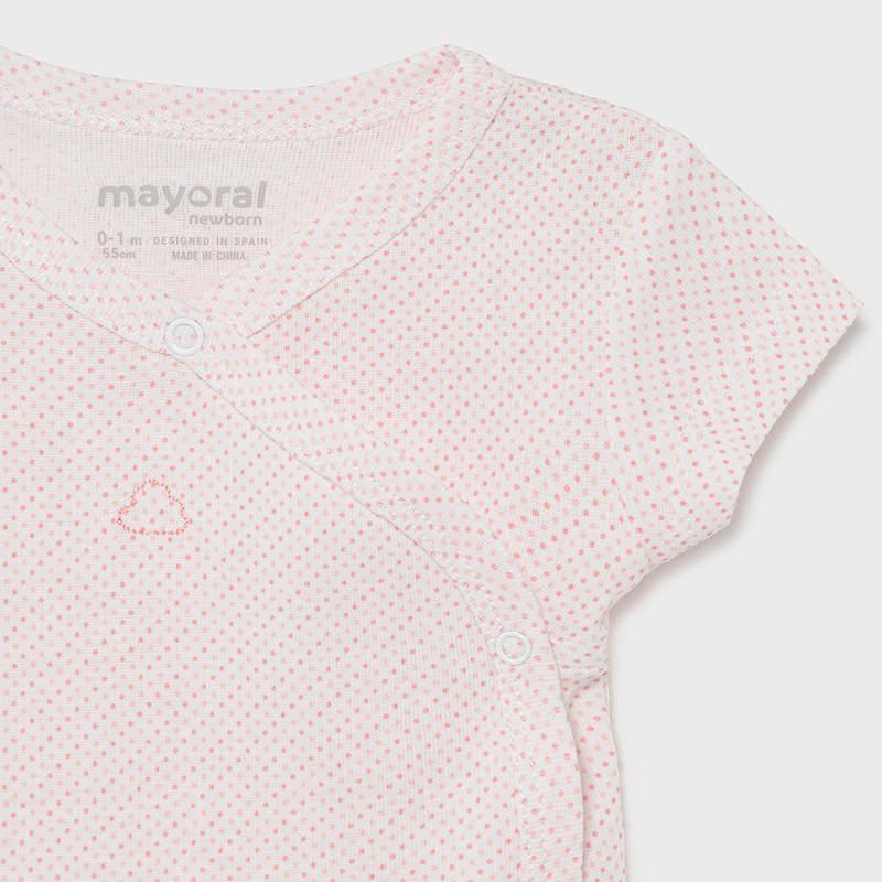 Κορμάκι κοντό μανίκι ροζ Mayoral 01789-33
