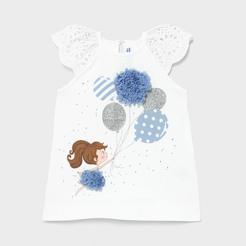 Φόρεμα παιδικό μακό μεταξοτυπία μπαλόνια Mayoral 01983-89