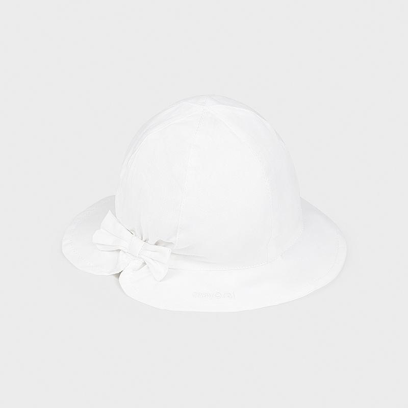 Καπέλο παιδικό με φιόγκο λευκό Mayoral 10017-24