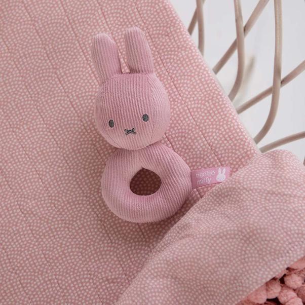 Κουδουνίστρα υφασμάτινη Miffy Pink