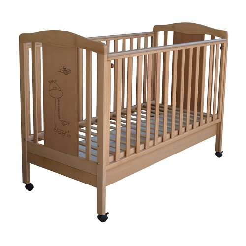 Bebe Stars βρεφικό κρεβάτι Amare φυσικό 401-04