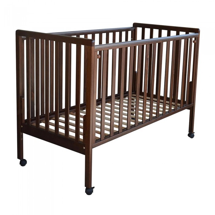 Bebe Stars βρεφικό κρεβάτι Luna Brown 403-01