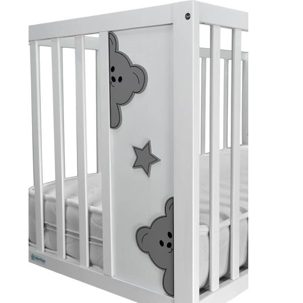 Βρεφικό κρεβάτι Bebe Stars Life White 453-02