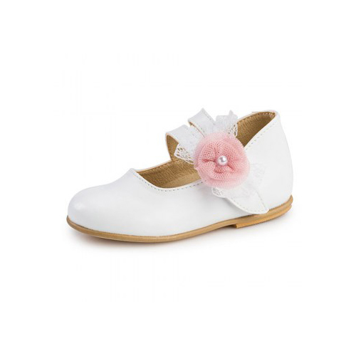Παιδικό παπούτσι αμπιγιέ για κορίτσι λευκό Gorgino 2211-1