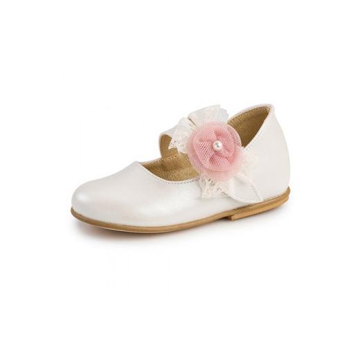 Παιδικό παπούτσι αμπιγιέ για κορίτσι λευκό Gorgino 2211-2