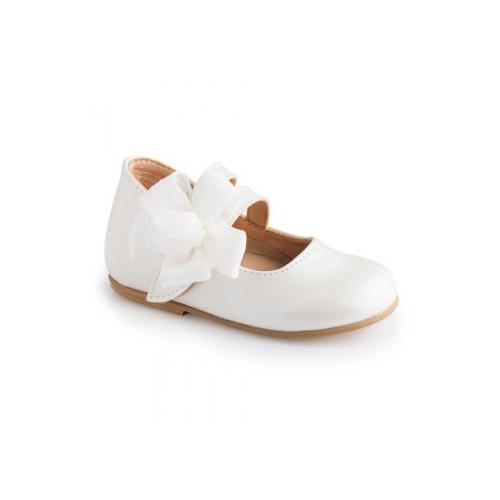Παιδικό παπούτσι αμπιγιέ για κορίτσι λευκό Gorgino 2229-1