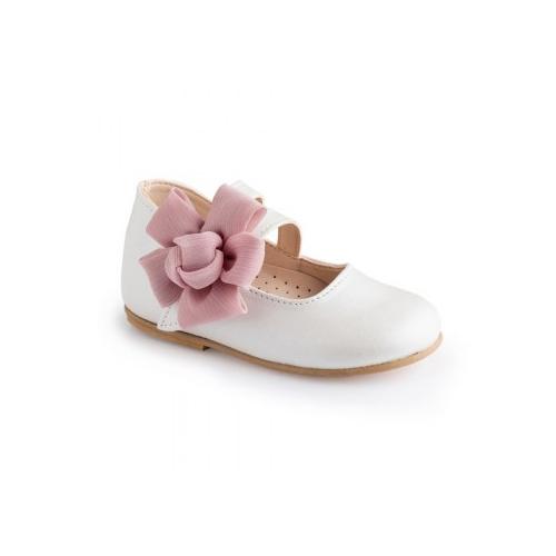 Παιδικό παπούτσι αμπιγιέ για κορίτσι λευκό Gorgino 2229-2