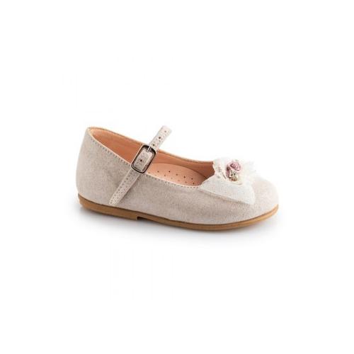 Παιδικό παπούτσι για κορίτσι εκρού Gorgino 2236-1