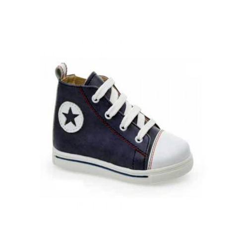 Παιδικό παπούτσι σνίκερ μποτάκι για αγόρι μπλε Gorgino 3124-1