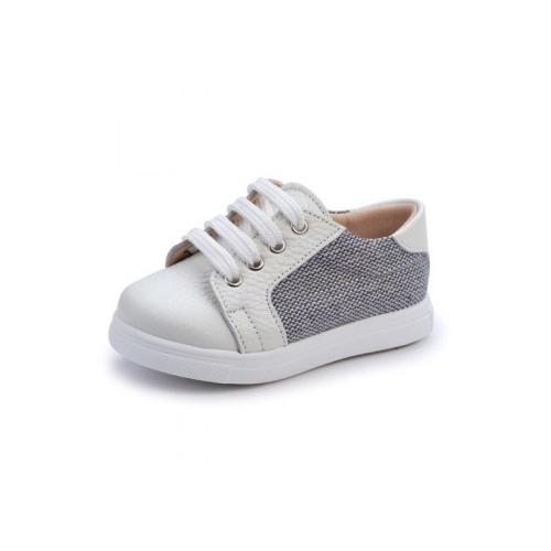 Παιδικό παπούτσι για αγόρι λευκό-γκρι Gorgino 3131-2
