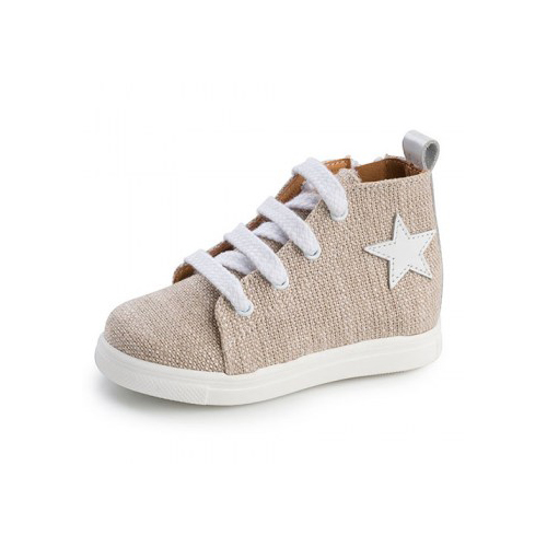Παιδικό παπούτσι σνίκερ μποτάκι για αγόρι μπεζ Gorgino 3133-1