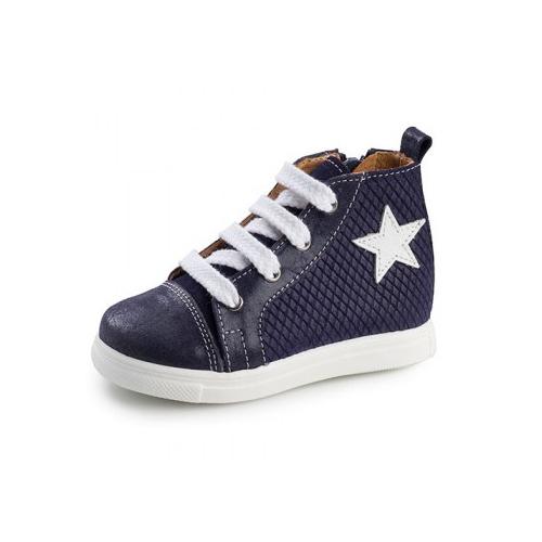 Παιδικό παπούτσι σνίκερ μποτάκι για αγόρι μπλε Gorgino 3135-1