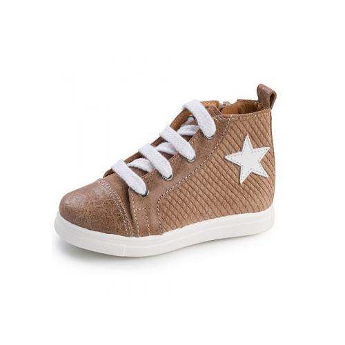 Παιδικό παπούτσι σνίκερ μποτάκι για αγόρι καφέ Gorgino 3135-2