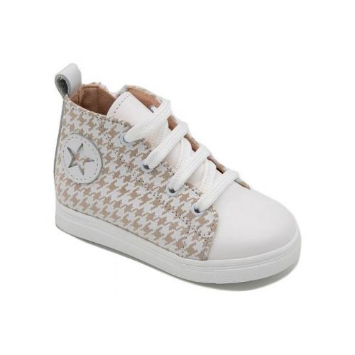 Παιδικό παπούτσι σνίκερ μποτάκι για αγόρι εκρού Gorgino 3148-2