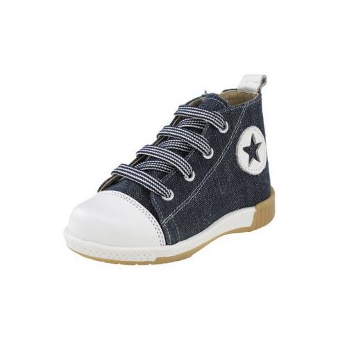Παιδικό παπούτσι Sneaker μποτάκι για αγόρι μπλέ 872-4