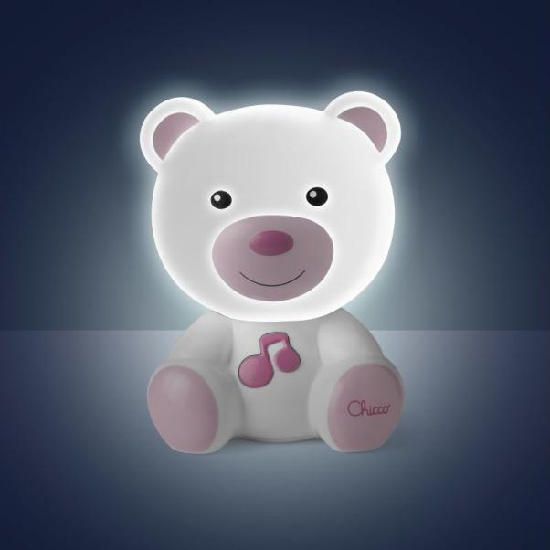 Chicco Αρκουδάκι Φωτάκι Νυκτός Με Μελωδία Ροζ