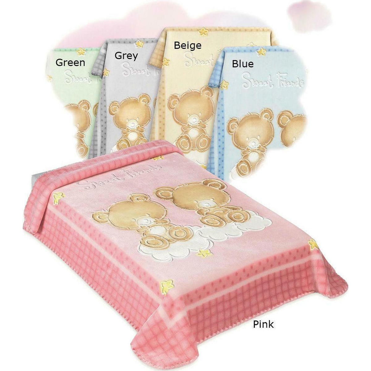 Bunny bebe βρεφική κουβέρτα βελουτέ Belpla Dralon 548