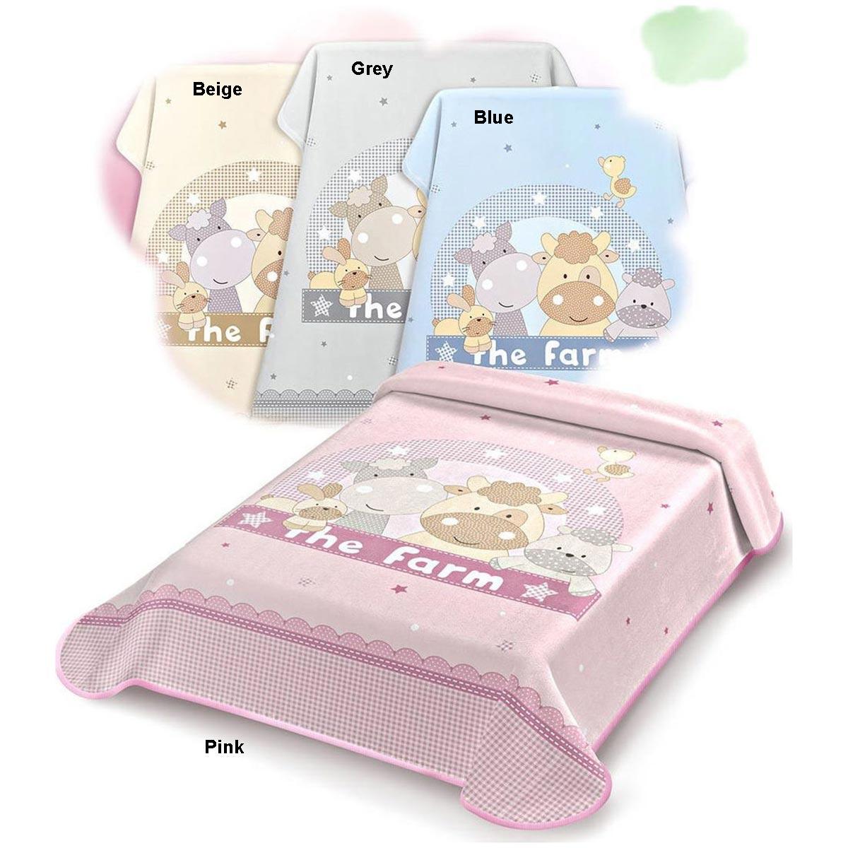Bunny bebe βρεφική κουβέρτα βελουτέ αγκαλιάς 80×110 Belpla Ster 664