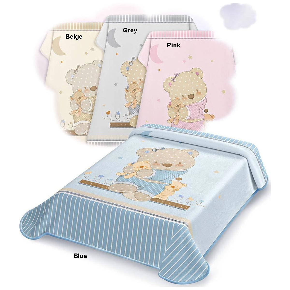 Bunny bebe βρεφική κουβέρτα βελουτέ Belpla Ster