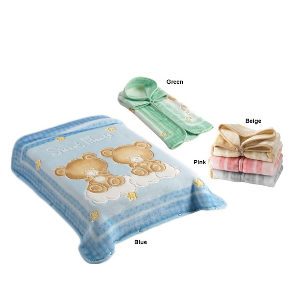 Bunny bebe βρεφική κουβέρτα βελουτέ υπνόσακος 80×90 Belpla Dralon 548